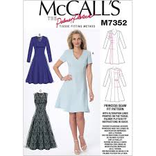 Fit And Flare Dress Pattern Simple Misses Jewel Or VNeck Fit And Flare Dresses McCalls Sewing Pattern