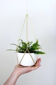 diy brass hanging planter