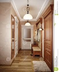 Hall Design Wall Elegant Classic Hall Interior Design With Beige Walls Stock