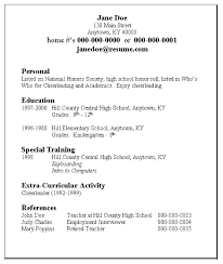 Job Resume Examples For Jobs With Little Experience Templates Teens Awesome Teenage Resume For First Job