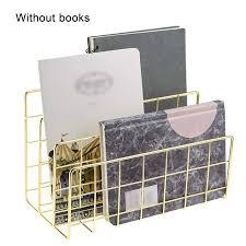 Wrought <b>Iron Metal Three Grid</b> Bookshelf Creative Book Stand ...