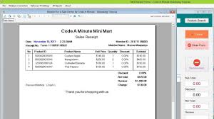 Make Crystal Report Invoice Template Receipt Sample Format Doc Stock