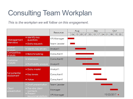 Consulting Charts Team Project Plan Mekko Graphics