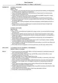 Payroll Resume Samples Payroll Manager Resume Samples Velvet Jobs Payroll Manager Resume