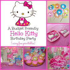 hello kitty birthday party printables a super sweet hello kitty birthday party using free printables