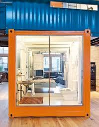 container office design. jeff wardell and claudia sagan placed two shipping containers right inside their industrial san francisco california loft the serve as container office design