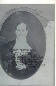 "Sarah Frances ""Sis"" Bowen Jennings (1833-1915) - Find A Grave Memorial"