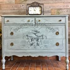 Iron Orchid Designs Duck Egg Chalk Paint With Iron Orchid Designs Transfer