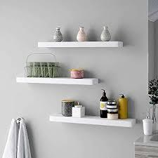 ogori set of 3 floating shelves white