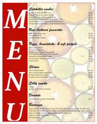 Microsoft Word Restaurant Menu Template Enchanting Menu Templates A48 Topagogo