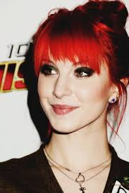 hayley williams bright red hair and black eye make up makeup tutorial for d