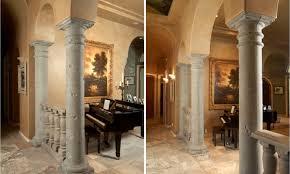 concrete and gfrc s with seamless finish and home decor interior design architectural columns