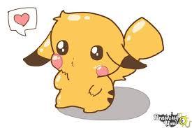 anime chibi pikachu drawing. Plain Chibi How To Draw A Chibi Pikachu  Step 10 For Anime Drawing