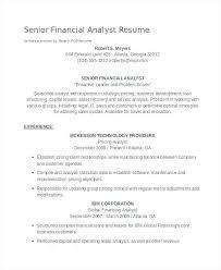 Senior Financial Analyst Resume Sample Senior Financial Analyst Resume Sample Resume For Financial Analyst