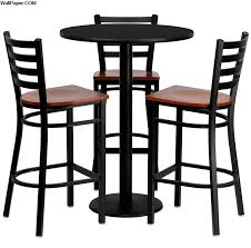 6 contemporary black pub table sets cute furniture round bar table and chairs