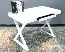 contemporary glass office. White Lacquer Office Furniture Metal Amp Glass Desk Contemporary Freedom To Modern Y