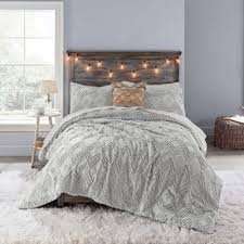 comforter set in light grey