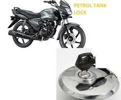 honda shine bike petrol tank lock with key keychain free gift