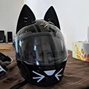 Nitrinos motorcycle full face helmet women cat ear women personality 5 colors 8 reviews cod. Amazon Com Cat Ear Helmet Upgrade Easy Peel And Stick Helmet Accessory With 5 Colored Decals Included Sports Outdoors