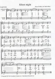sheet music silent night franz gruber silent night satb presto sheet music