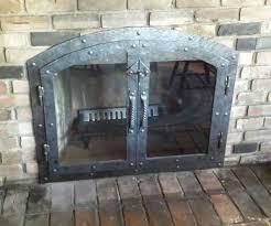 large size of old custom made custom hammered iron fireplace doors fireplace screen twistedhandle handmade