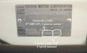 Toyota Gear Ratio Color Chart Lc Engineering Differential Tech