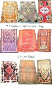extra long bathroom rugs bath rug s contour cotton