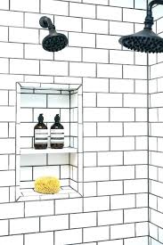 colored subway tile white subway tile subway tile grout shower with white subway tiles and black