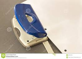 Bluehole Stock Chart Office Equipments Hole Puncher Stock Image Image Of