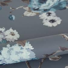 Bolcom Origin Behang Bloemen Vintage Blauw En Taupe 347429
