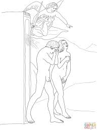 Small Picture Adam and Eve Banished from Paradise coloring page Free Printable