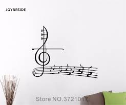 Treble Clef Music Store Us 5 18 25 Off Joyreside Musical Notes Wall Treble Clef Decal Vinyl Sticker Home Interior Living Room Bedroom Decor Design Art Decoration A126 In