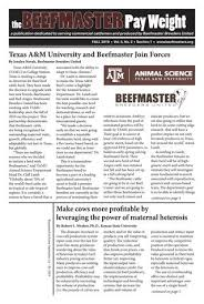 The Beefmaster Pay Weight Fall 2019 By Beefmaster Breeders