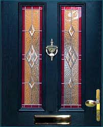 coloured glass doors