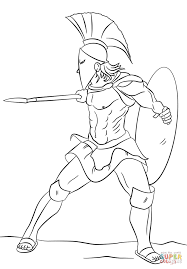 Small Picture Spartan Warrior coloring page Free Printable Coloring Pages