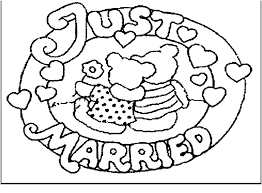 Free Printable Wedding Coloring Pages Uticureinfo