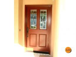 replacement front door glass insert installed in san juan classic style forty two inch plastpro fiberglass entry door model drg41 with