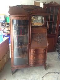 secretary desk antique antique secretary bookcase tiger oak original hutch cabinet curved secretary desk antique