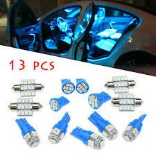 <b>13x</b> Car 12V Interior LED <b>Blue Lights</b> For Dome License Plate Lamp ...