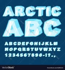 Blue Letters Arctic Abc Icy Font Letters Blue Cold Alphabet