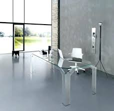 clear office desk. Clear Office Desk Modern All Glass With White Chair Also Tripod Floor Mat D .