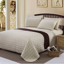 100%cotton grid quilt beige bedspread bedding set 3pcs(one quilt + ... & 100%cotton grid quilt beige bedspread bedding set 3pcs(one quilt +two  pillowcases) 225*250cm blanket bed sheet home textile-in Bedding Sets from  Home ... Adamdwight.com