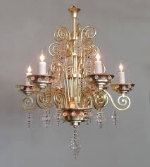 20th century french art deco bronze and glass chandelier by glass artist sabino for 4