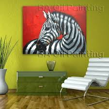 no framed beautiful colorful horse oil painting on canvas artist handmade abstract indian horse portrait oil