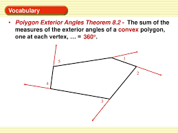 What Is The Sum Of The Measures Of The Exterior Angles Of Any Convex Polygon One At Each Vertex