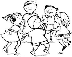 Disegno Di Girotondo Da Colorare Per Bambini Con Disegni Di Bambini
