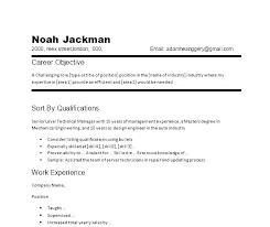 Sample Of Good Resume Server Resume Objective Samples A Good Resume