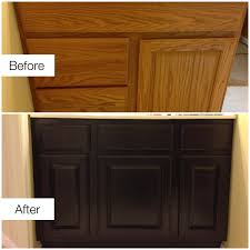 restaining oak kitchen cabinets before and after review photo cabinet refacing sanding doors staining paint without stripping you restain spraying stain