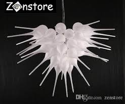 contemporary frosted white chandelier modern living room blown glass chandeliers led ce ul 100 borosilicate glass chandelier lighting modern pendant