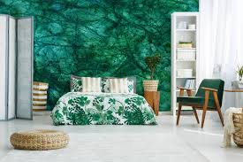 Bedroom Structure Design Leaf Structure Contemporary Bedroom Nature Wall